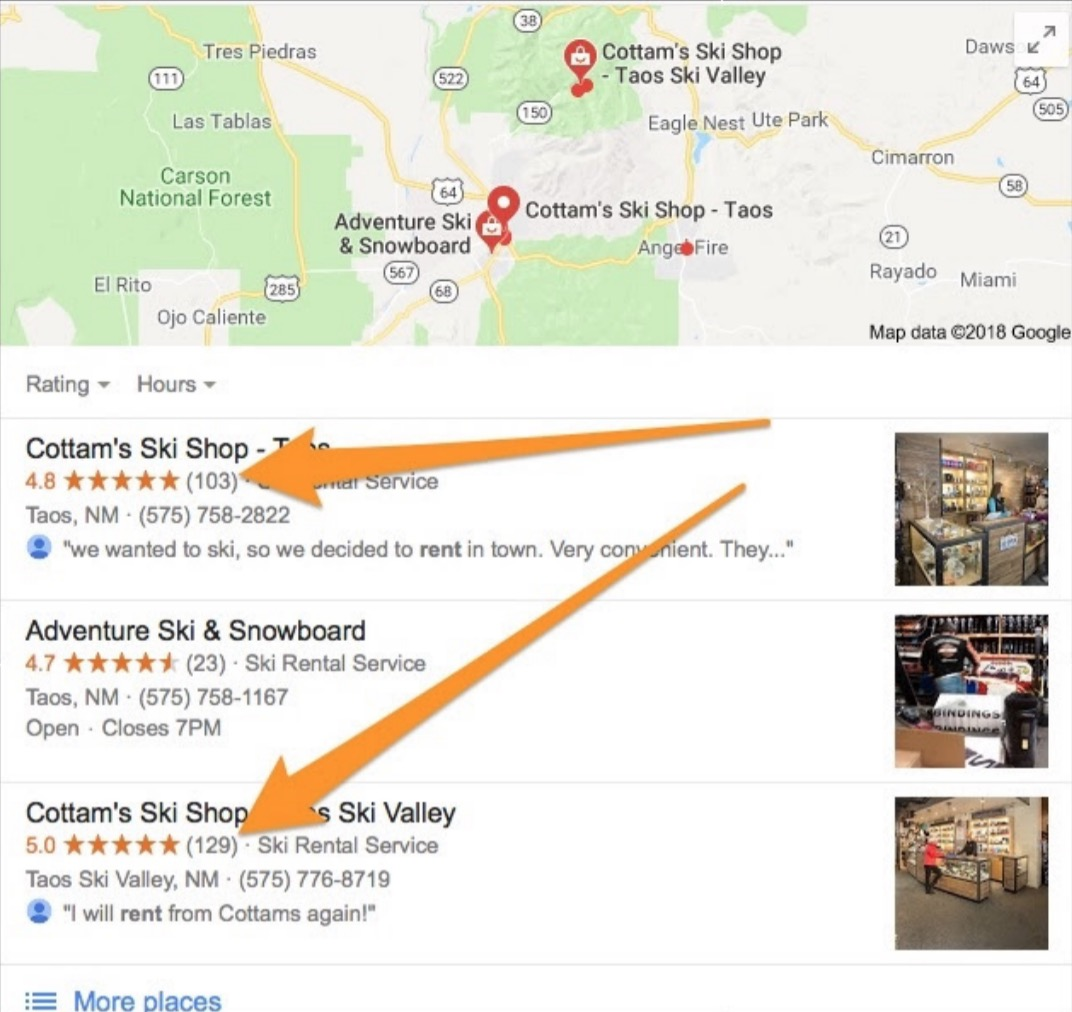 google reviews for cottam's ski shop - from the tutorial on how to get more photography reviews