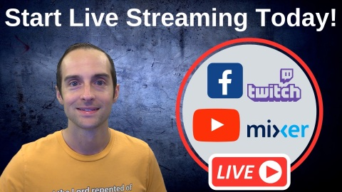 Start Live Streaming Online Today Course coupon