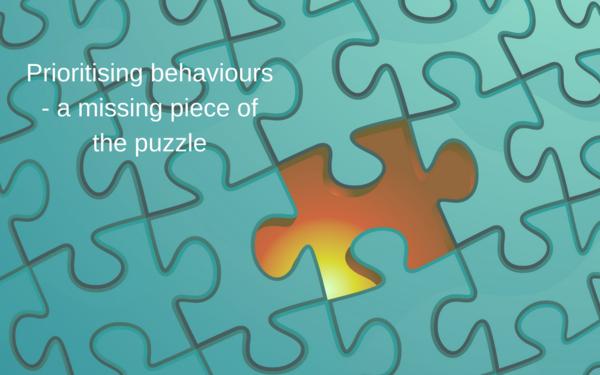 Thumb prioritising behaviours   a way to move forward