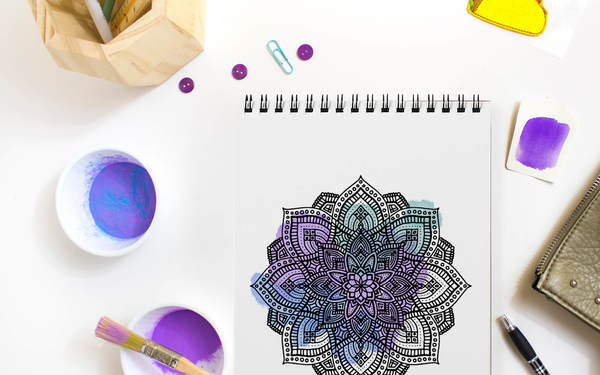 Thumb digital mandala colouring book