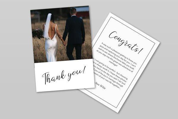 Wedding Photographer Thank You Card Template