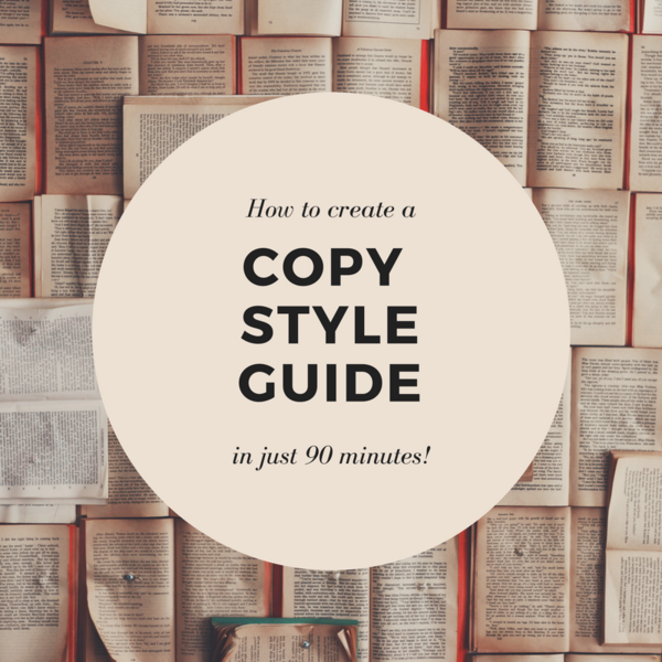 Thumb how to create acopy style guide