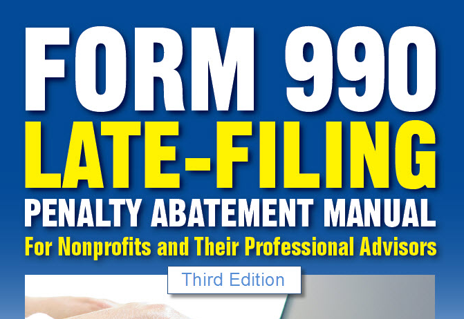 Form 990 Late Filing Penalty Abatement Manual Example Letters