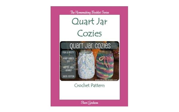 Thumb quart jar cozies crochet pattern