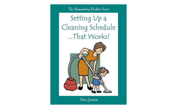 Thumb setting up a cleaning schedule that works