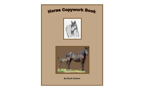 Thumb horse copywork book