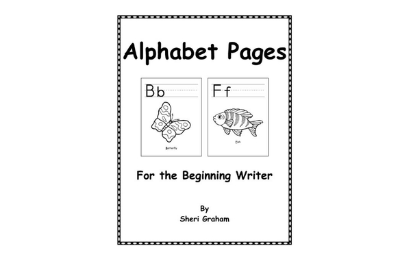 Thumb alphabet pages for the beginning writer