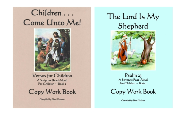 Thumb children come unto me and the lord is my shepherd copywork bundle