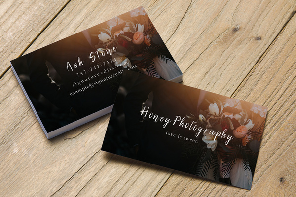 Honey photography business card template friedricerecipe Images